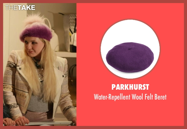 Parkhurst purple beret from Scream Queens seen with Chanel #5 (Abigail Breslin)