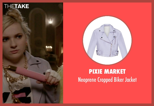 Pixie Market purple jacket from Scream Queens seen with Chanel #5 (Abigail Breslin)
