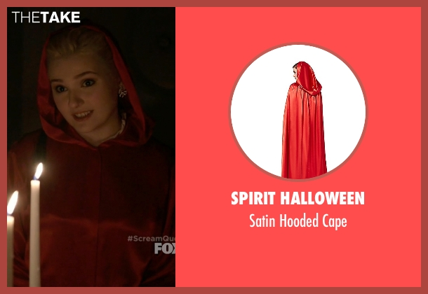 Spirit Halloween red cape from Scream Queens seen with Chanel #5 (Abigail Breslin)
