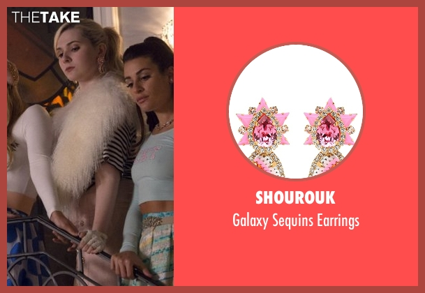 Shourouk red earrings from Scream Queens seen with Chanel #5 (Abigail Breslin)
