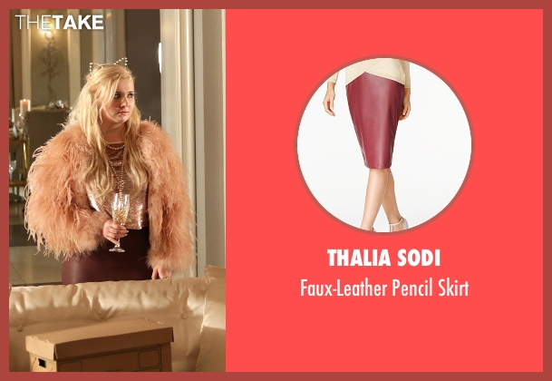 Thalia Sodi red skirt from Scream Queens seen with Chanel #5 (Abigail Breslin)