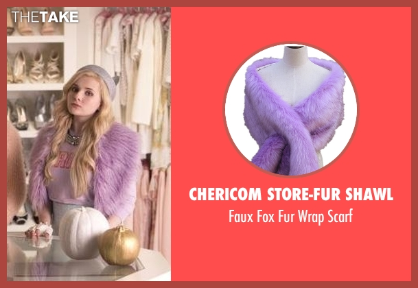 Chericom Store-Fur Shawl scarf from Scream Queens seen with Chanel #5 (Abigail Breslin)