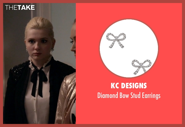 KC Designs silver earrings from Scream Queens seen with Chanel #5 (Abigail Breslin)