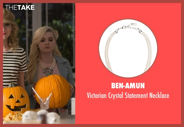Ben-Amun silver necklace from Scream Queens seen with Chanel #5 (Abigail Breslin)