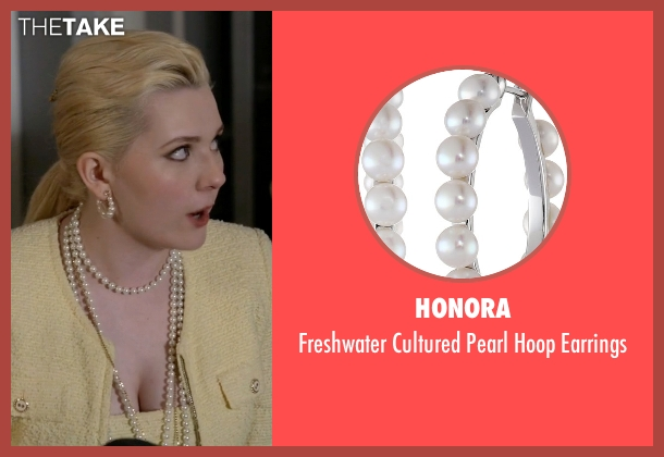 Honora white earrings from Scream Queens seen with Chanel #5 (Abigail Breslin)