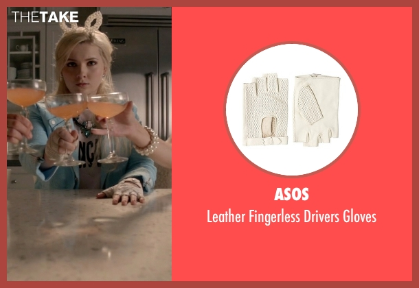 Asos white gloves from Scream Queens seen with Chanel #5 (Abigail Breslin)