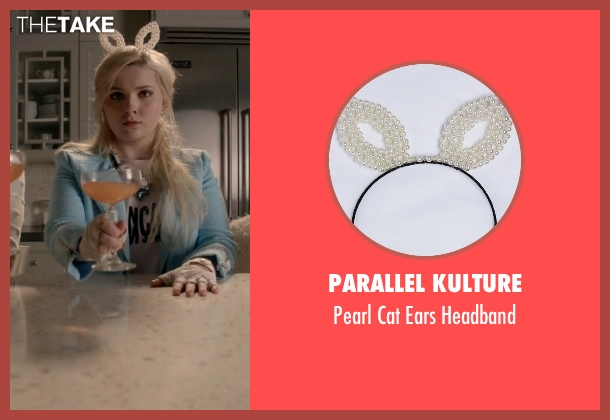 Parallel Kulture white headband from Scream Queens seen with Chanel #5 (Abigail Breslin)