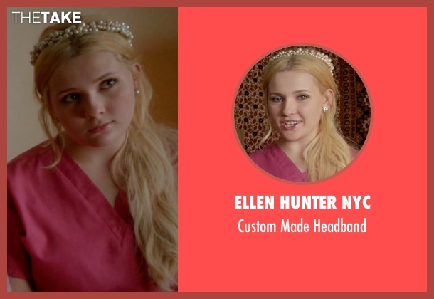 Ellen Hunter NYC white headband from Scream Queens seen with Chanel #5 (Abigail Breslin)