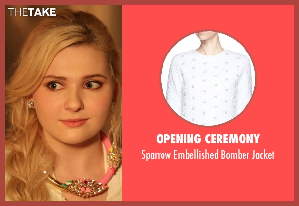 Opening Ceremony white jacket from Scream Queens seen with Chanel #5 (Abigail Breslin)