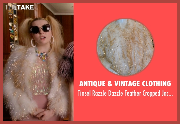 Antique & Vintage Clothing white jacket from Scream Queens seen with Chanel #5 (Abigail Breslin)