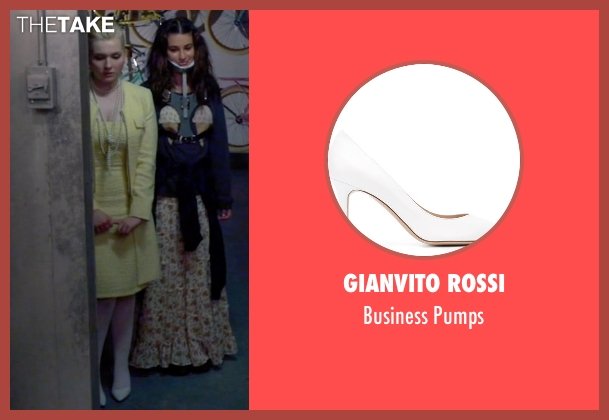 Gianvito Rossi white pumps from Scream Queens seen with Chanel #5 (Abigail Breslin)