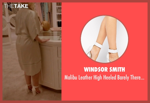Windsor Smith white sandals from Scream Queens seen with Chanel #5 (Abigail Breslin)