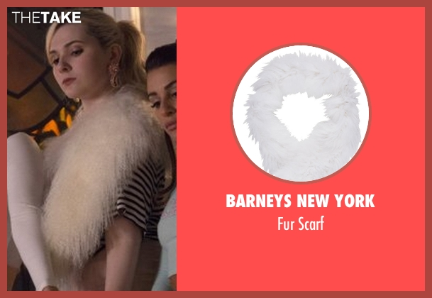 Barneys New York white scarf from Scream Queens seen with Chanel #5 (Abigail Breslin)