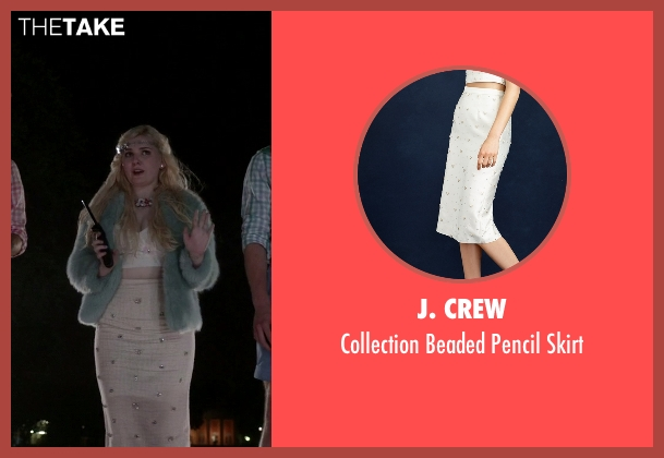 J. Crew white skirt from Scream Queens seen with Chanel #5 (Abigail Breslin)