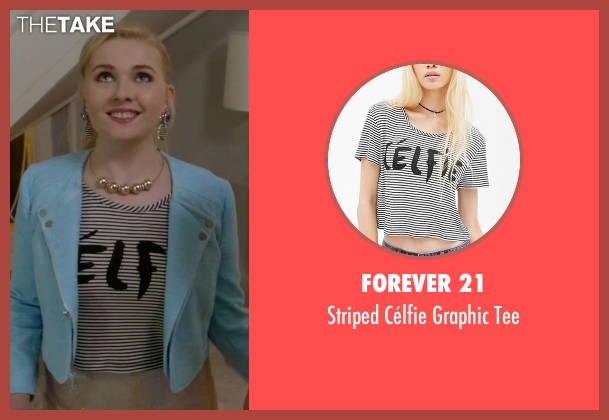 Forever 21 white tee from Scream Queens seen with Chanel #5 (Abigail Breslin)