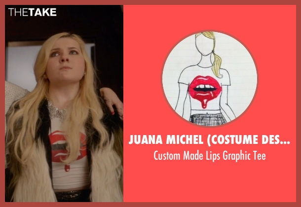 Juana Michel (Costume Designer) white tee from Scream Queens seen with Chanel #5 (Abigail Breslin)