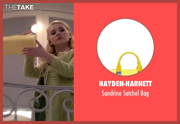 Hayden-Harnett yellow bag from Scream Queens seen with Chanel #5 (Abigail Breslin)