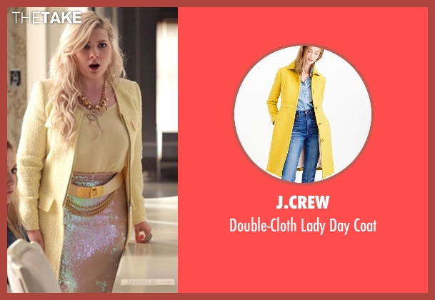 J.Crew yellow coat from Scream Queens seen with Chanel #5 (Abigail Breslin)