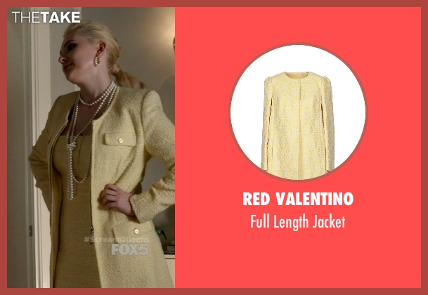 Red Valentino yellow jacket from Scream Queens seen with Chanel #5 (Abigail Breslin)