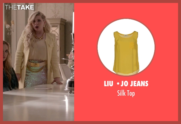 Liu •Jo Jeans yellow top from Scream Queens seen with Chanel #5 (Abigail Breslin)
