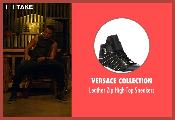 Versace Collection black sneakers from Magic Mike XXL seen with Channing Tatum (Magic Mike)