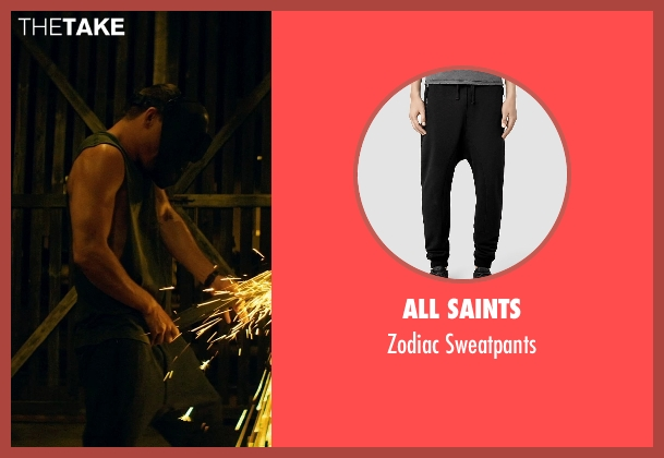 All Saints black sweatpants from Magic Mike XXL seen with Channing Tatum (Magic Mike)