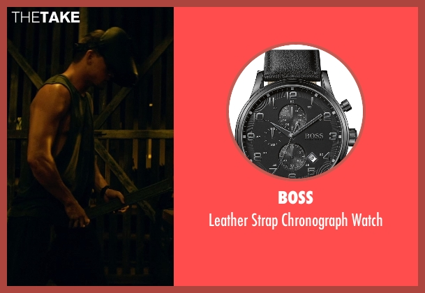 Boss black watch from Magic Mike XXL seen with Channing Tatum (Magic Mike)