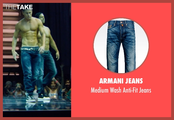 Armani Jeans blue jeans from Magic Mike XXL seen with Channing Tatum (Magic Mike)