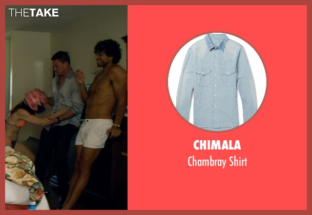 Chimala blue shirt from Magic Mike XXL seen with Channing Tatum (Magic Mike)