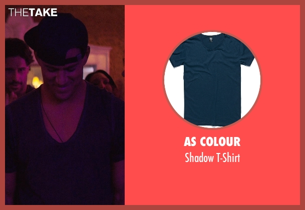 AS Colour blue t-shirt from Magic Mike XXL seen with Channing Tatum (Magic Mike)