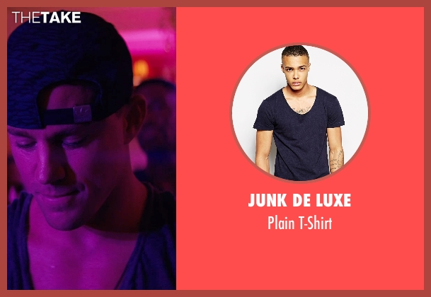 Junk De Luxe blue t-shirt from Magic Mike XXL seen with Channing Tatum (Magic Mike)