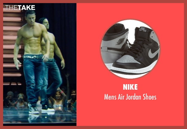Nike gray shoes from Magic Mike XXL seen with Channing Tatum (Magic Mike)
