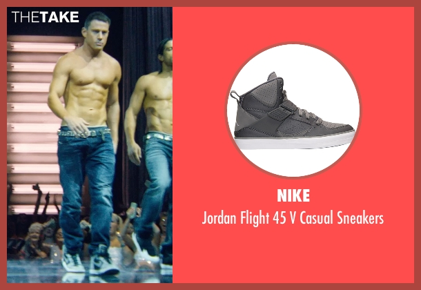 Nike gray sneakers from Magic Mike XXL seen with Channing Tatum (Magic Mike)