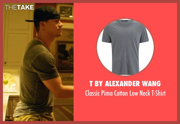 T by Alexander Wang gray t-shirt from Magic Mike XXL seen with Channing Tatum (Magic Mike)