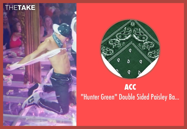 ACC green bandanas from Magic Mike XXL seen with Channing Tatum (Magic Mike)