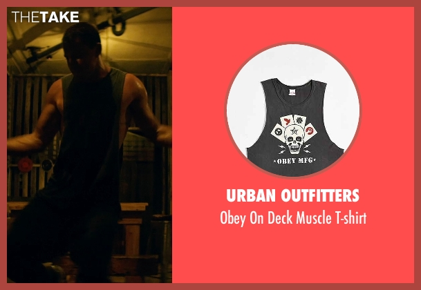 Urban Outfitters green t-shirt from Magic Mike XXL seen with Channing Tatum (Magic Mike)