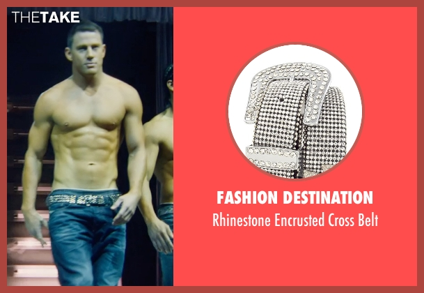 Fashion Destination silver belt from Magic Mike XXL seen with Channing Tatum (Magic Mike)