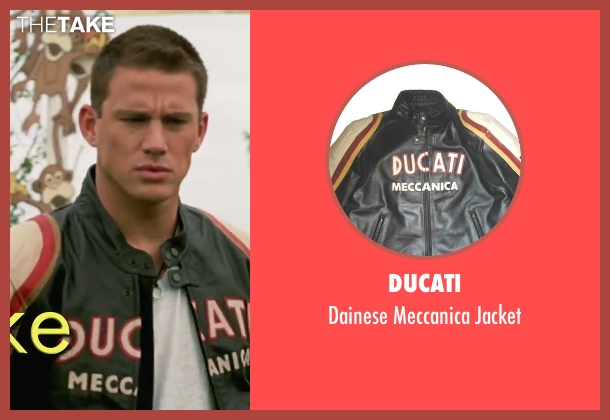 Ducati black jacket from She's The Man seen with Channing Tatum (Duke)