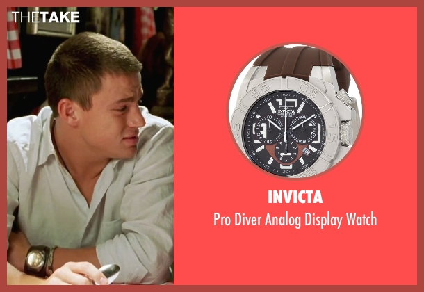 Invicta  brown watch from She's The Man seen with Channing Tatum (Duke)