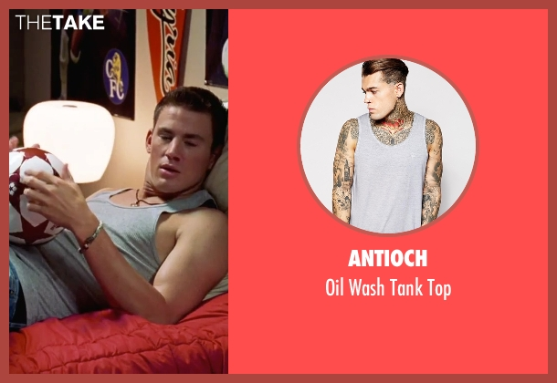 Antioch gray top from She's The Man seen with Channing Tatum (Duke)