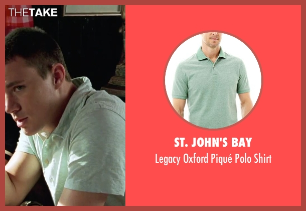 St. John's Bay green shirt from She's The Man seen with Channing Tatum (Duke)
