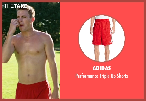 Adidas red shorts from She's The Man seen with Channing Tatum (Duke)