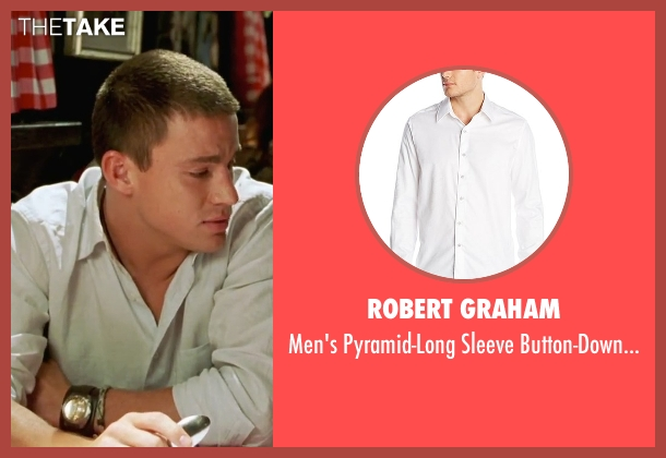 Robert Graham white shirt from She's The Man seen with Channing Tatum (Duke)