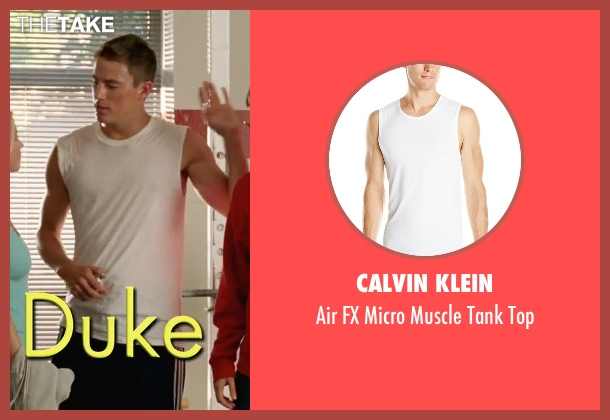 Calvin Klein white top from She's The Man seen with Channing Tatum (Duke)