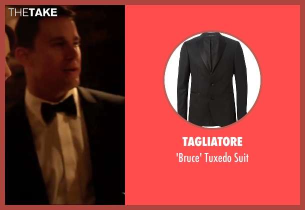 Tagliatore black suit from Side Effects seen with Channing Tatum (Martin Taylor)