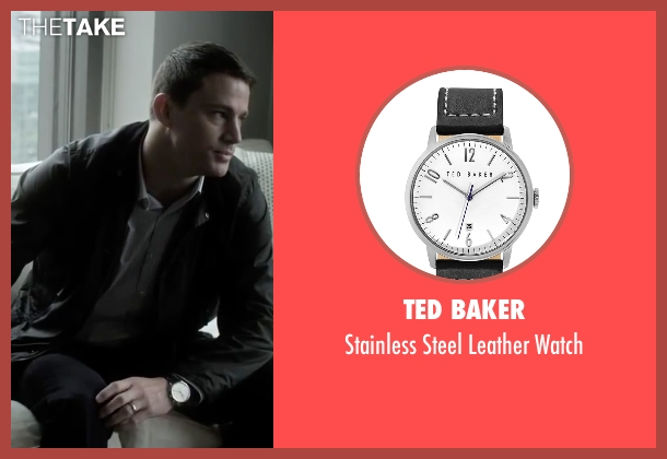 Ted Baker black watch from Side Effects seen with Channing Tatum (Martin Taylor)