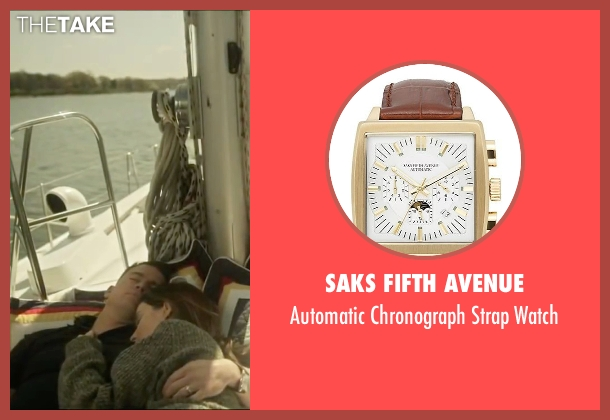 Saks Fifth Avenue brown watch from Side Effects seen with Channing Tatum (Martin Taylor)