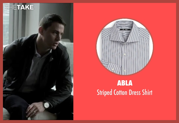 Abla gray shirt from Side Effects seen with Channing Tatum (Martin Taylor)