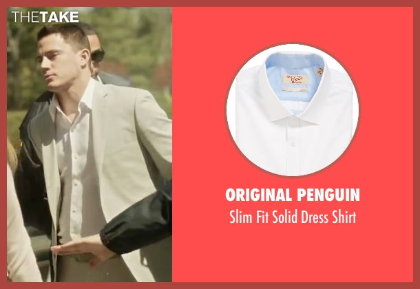 Original Penguin white shirt from Side Effects seen with Channing Tatum (Martin Taylor)