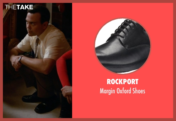 Rockport black shoes from Brooklyn Nine-Nine seen with Charles Boyle (Joe Lo Truglio)